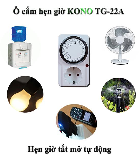 Ứng dụng ổ cắm hẹn giờ cơ KONO TG-22A