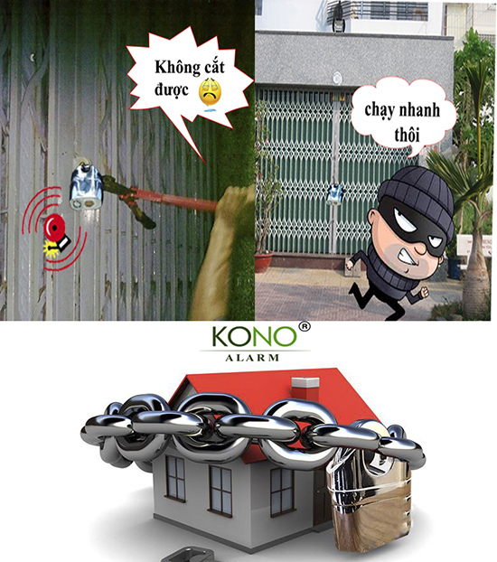 Ứng dụng ổ khóa chống cắt báo động K106A