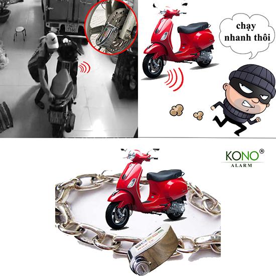 Khóa xe an toàn với khóa dĩa xe máy 303