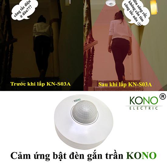 Ứng dụng bật đèn gắn trần KN-S03A