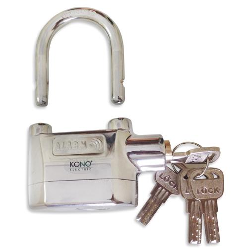 ổ khóa chống trộm k168A tích hợp còi hú, bảo vệ nhà bạn an toàn hơn. Đồng thời khoá chống trộm KONO K168B sử dụng 2 ổ bi sẽ làm trộm khó khăn hơn rất nhiều khi mở.