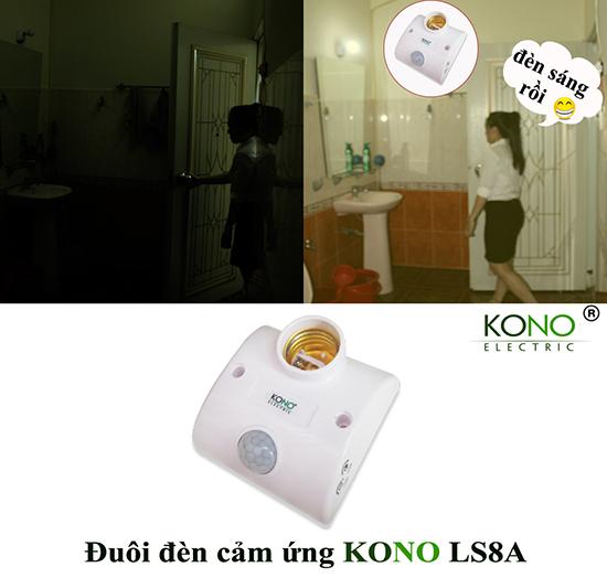 Ứng dụng đuôi đèn cảm ứng KONO KN-LS8A