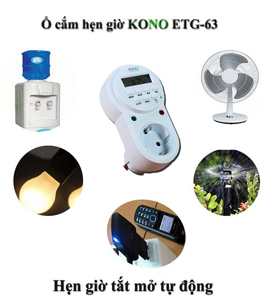 Ứng dụng ổ cắm hẹn giờ tự động KONO KN-ETG63