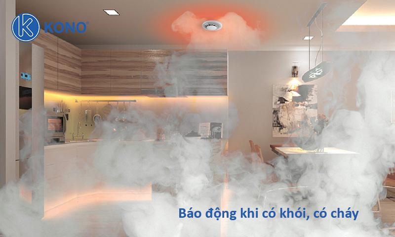 Báo động khi phát hiện có cháy và khói